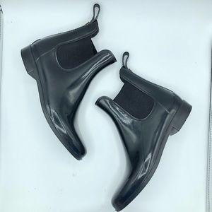 Sam Edelman Ankle Rain Boots Tinsley Glossy PullOn